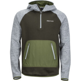 Marmot M's Gunnison Hoody Grey Storm Heather/Rosin Green